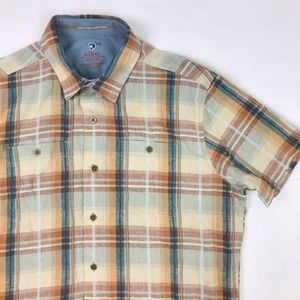 Kuhl Shirt Born in the Mountains Plaid Button